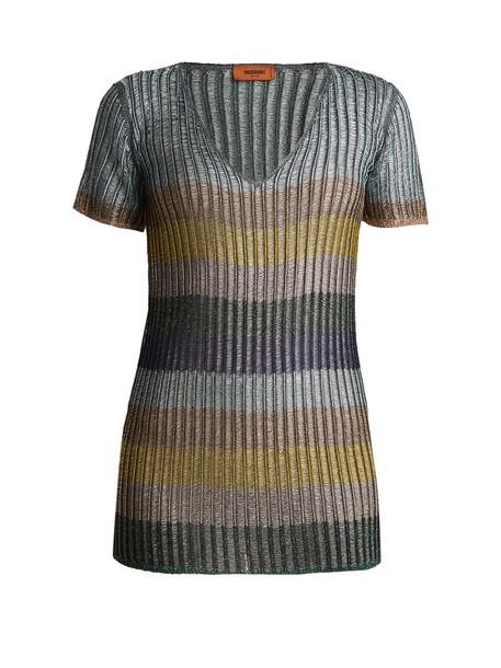 Missoni sweater striped sweater silver