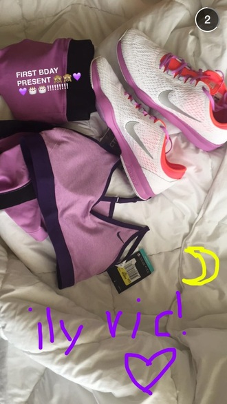 shoes ariana grande nike shoes arianagrande bustier top shorts