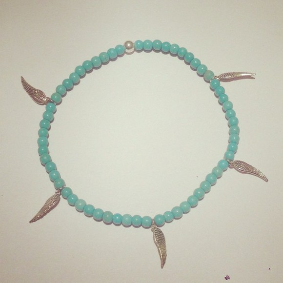 prom girl cute jewels anklet girly turquoise jewelry indie hippy summer tanned prom jewelry angel