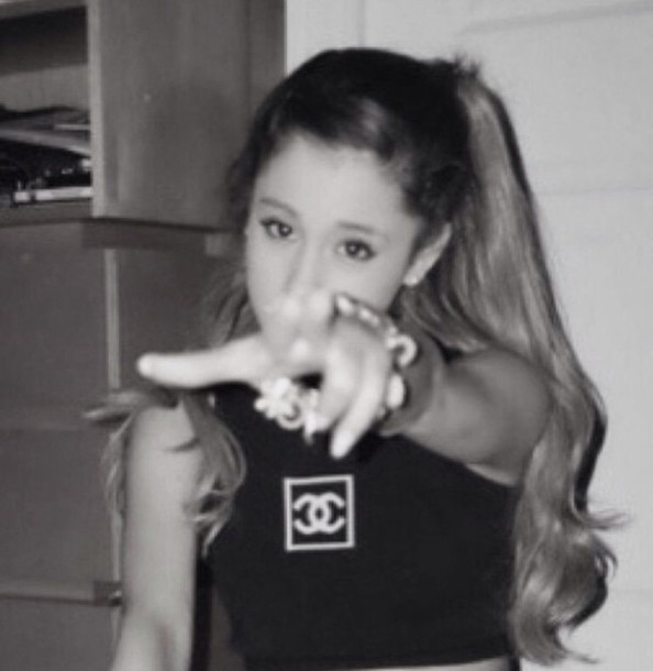 tank top ariana grande chanel top coco chanel shirt