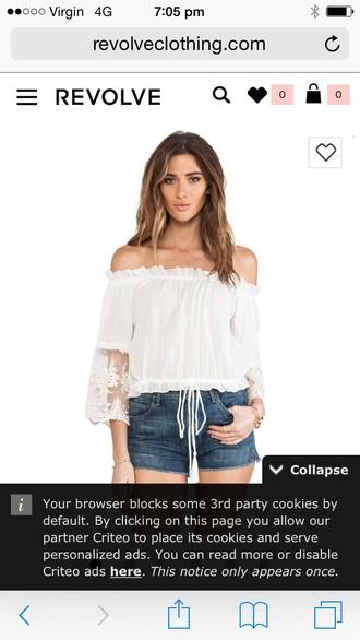 blouse white gypsy boho white top
