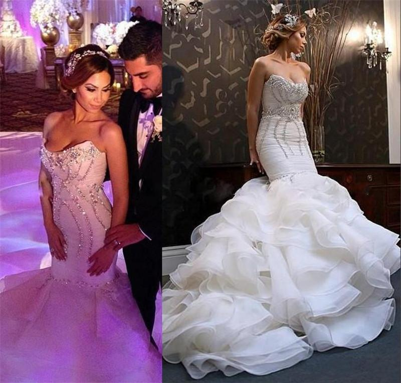 Luxury Beaded Crystal Mermaid Wedding Dresses 2016 ...