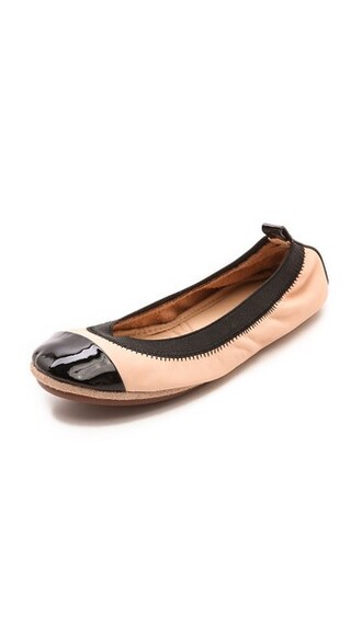 flats nude black shoes