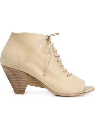 open boots ankle boots nude shoes