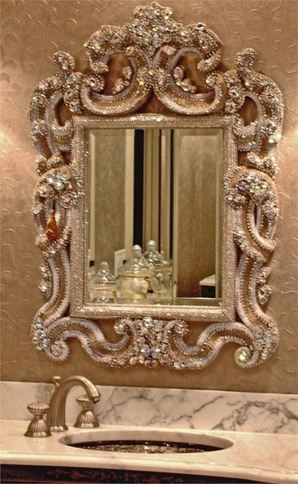 jewels mirror crystal bathroom