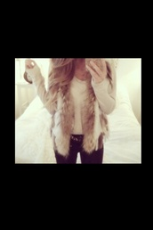 coat,faux fur coat,faux fur jacket,fur,fur jacket,fur collar,fur vest,fluffy,furry coat,iphone 5 case,white