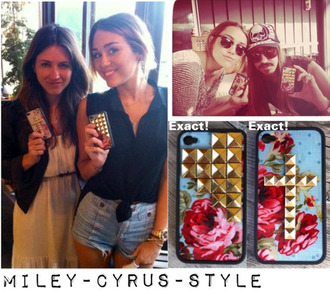 jewels miley cyrus iphone cover blouse shorts