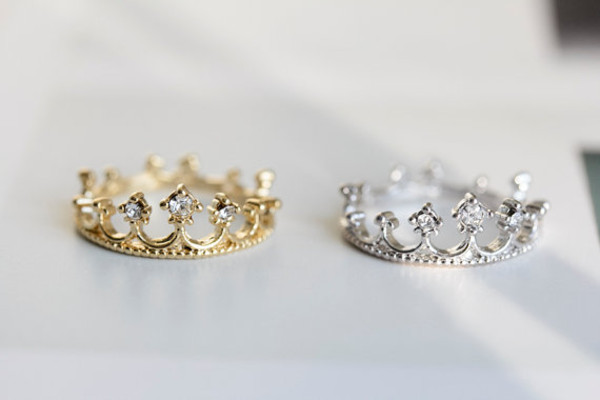 jewels ring gold silver crown ring knuckle ring