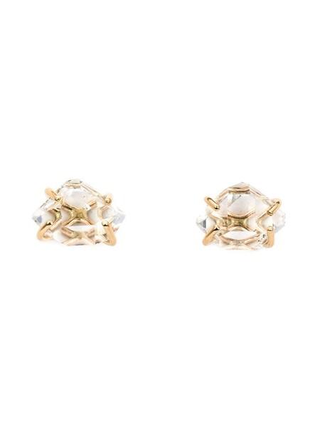 Melissa Joy Manning women earrings gold grey metallic jewels