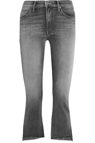 jeans cropped high charcoal