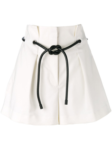 3.1 Phillip Lim shorts pleated women spandex origami nude cotton