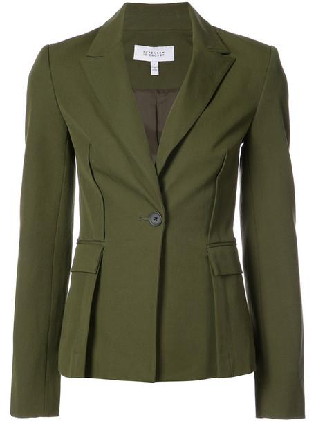 DEREK LAM 10 CROSBY blazer back women spandex cotton green jacket