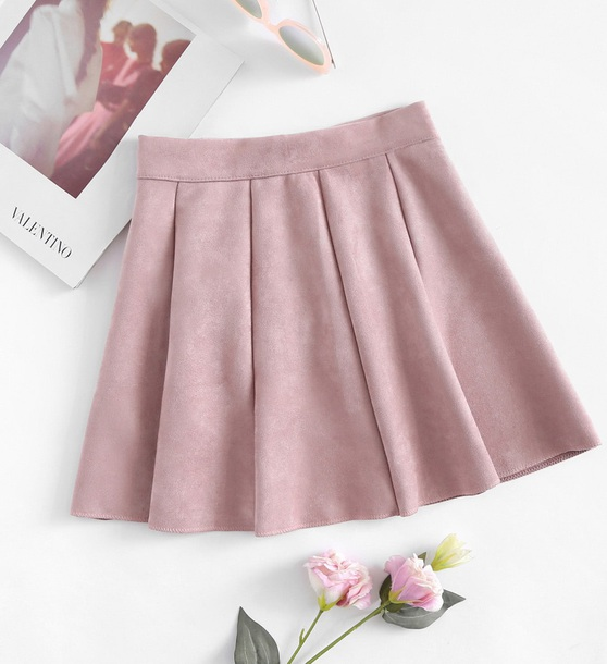 skirt girly pink pink skirt suede suede skirt mini mini skirt