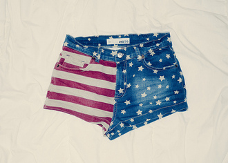 american flag shorts flag america red shorts blue shorts short stars and stripes high waisted white shorts