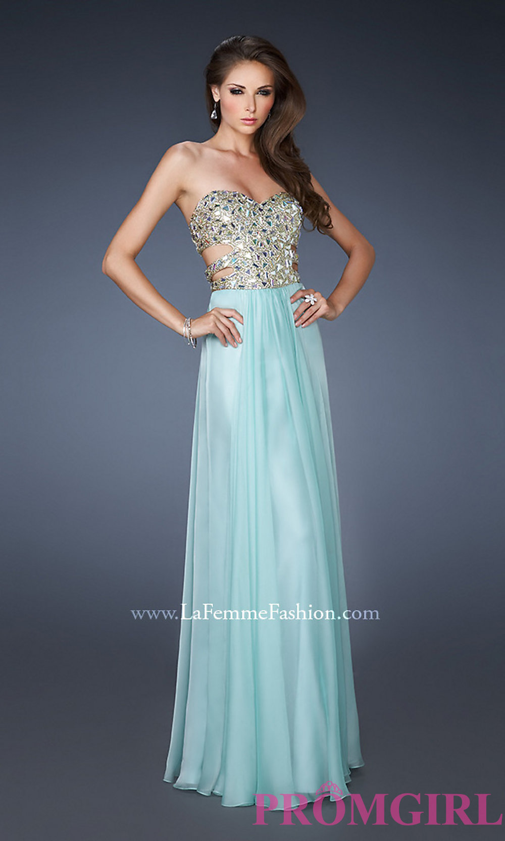 Out Prom Gown by La Femme 18602