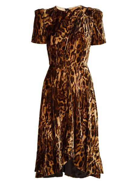 Isabel Marant dress velvet dress print velvet