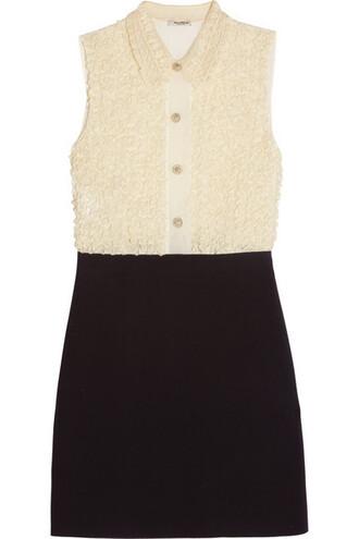 dress mini dress mini embellished lace black silk
