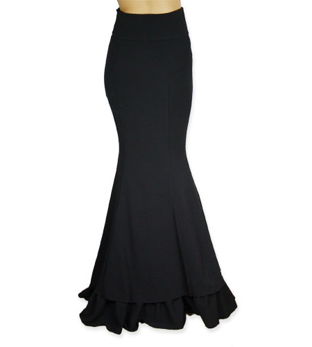 Vivien Fishtail Skirt - Black