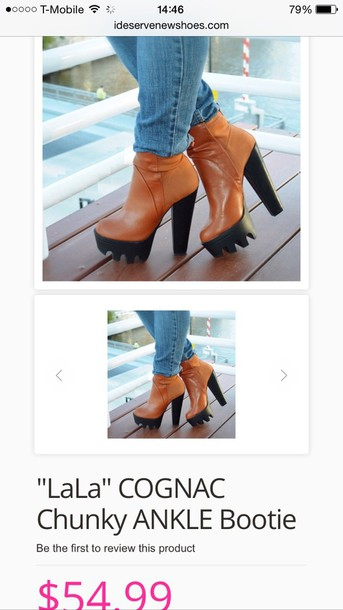 shoes cognac booties ankle