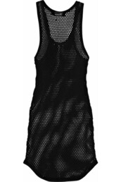 isabel marant,tank top,dress,crochet,mesh,mini,black dress