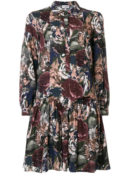 Paul & Joe dress shirt dress rose women print