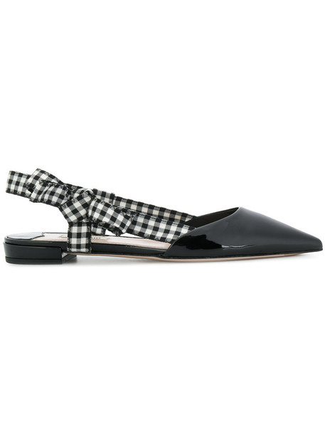Miu Miu women pumps leather black shoes