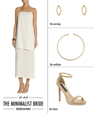 bklyn bride blogger sandals white dress gold