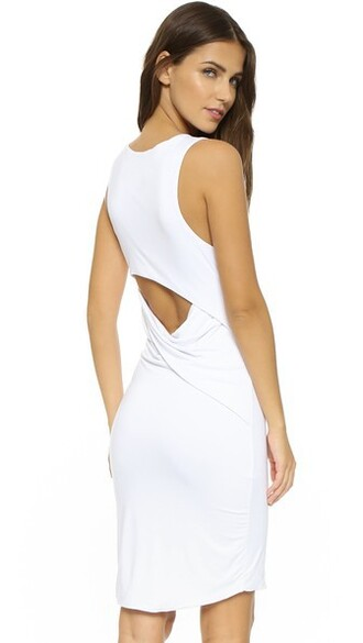 dress back open open back white