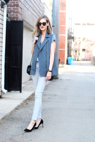 see jane blogger jacket t-shirt jeans shoes