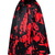 Satin Gazer Paint Splatter Full Midi Skirt Atlantic Pacific Joanna Hillman Eva C