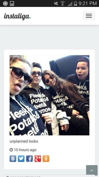 sweater Rebecca Black sweatshirt black