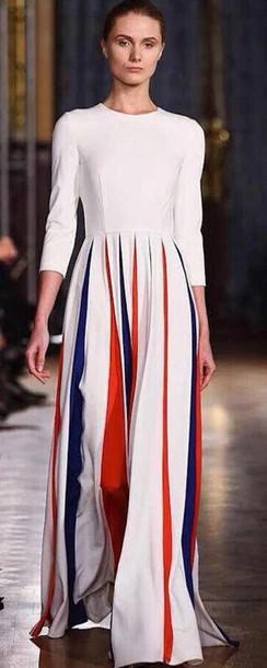 dress white red blue