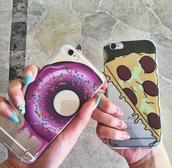 phone cover,pizza,iphone 5c,5c,donut,iphone case