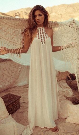 dress nude dress boho dress
