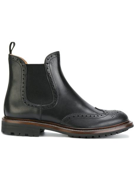 Church's heel women leather black shoes