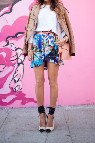 song of style jacket sweater skirt shoes bag jewels
