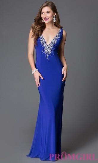 dress embellished stylish xcite prom dress jewels necklace blue prom dress blue dress