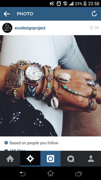 native american boho jewels bracelets pattern indie hippie watch tribal pattern ethnic print eagle accessories vintage