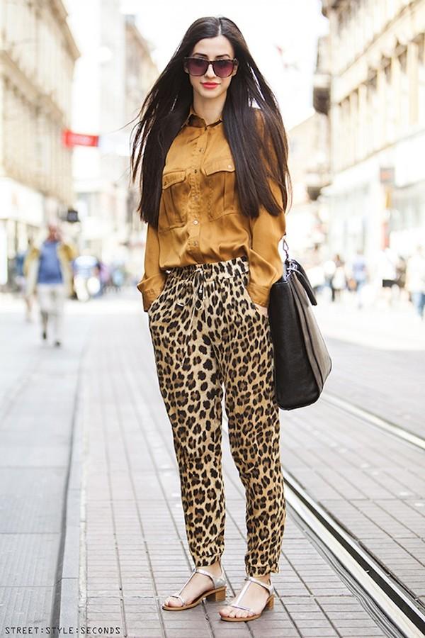 pants leopard pants drawstring pants leopard print