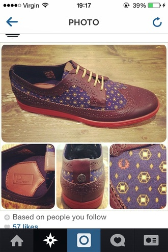 shoes fred perry derbies flats brogue shoes