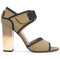Marni - ombré heel technical sandals - women - cotton/calf leather/leather/viscose - 36.5, green, cotton/calf leather/leather/viscose