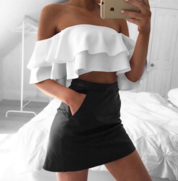 blouse blouse skirt top crop tops crop top bralette skater skirt
