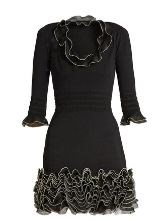 dress mini dress mini knit ruffle black