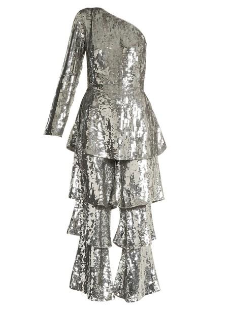 Osman jumpsuit embellished silver