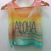 tank top,shirt,hipster,aloha shirt,crop tops
