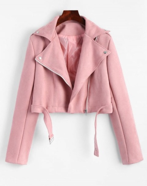 jacket girly pink biker jacket zip zip up jacket suede suede jacket