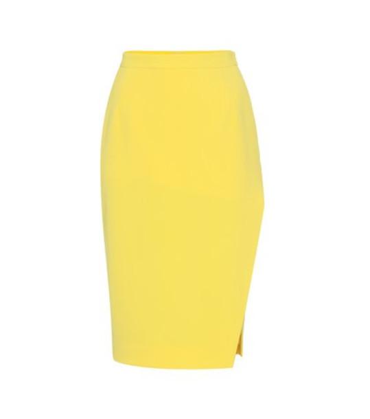 Altuzarra Lancaster crêpe skirt in yellow
