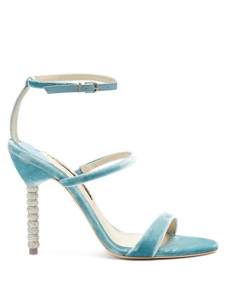 Sophia Webster sandals velvet light blue light blue shoes