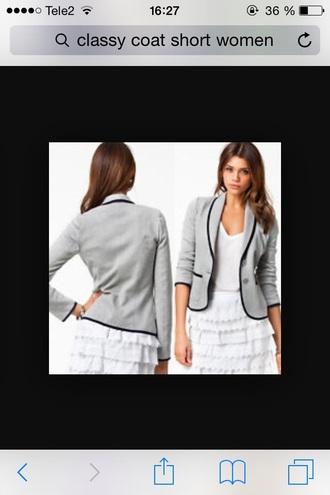 jacket grey jacket cardigan grey cardigan blazer grey blazer grey and black blazer classy blazer