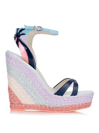 sandals wedge sandals pink shoes